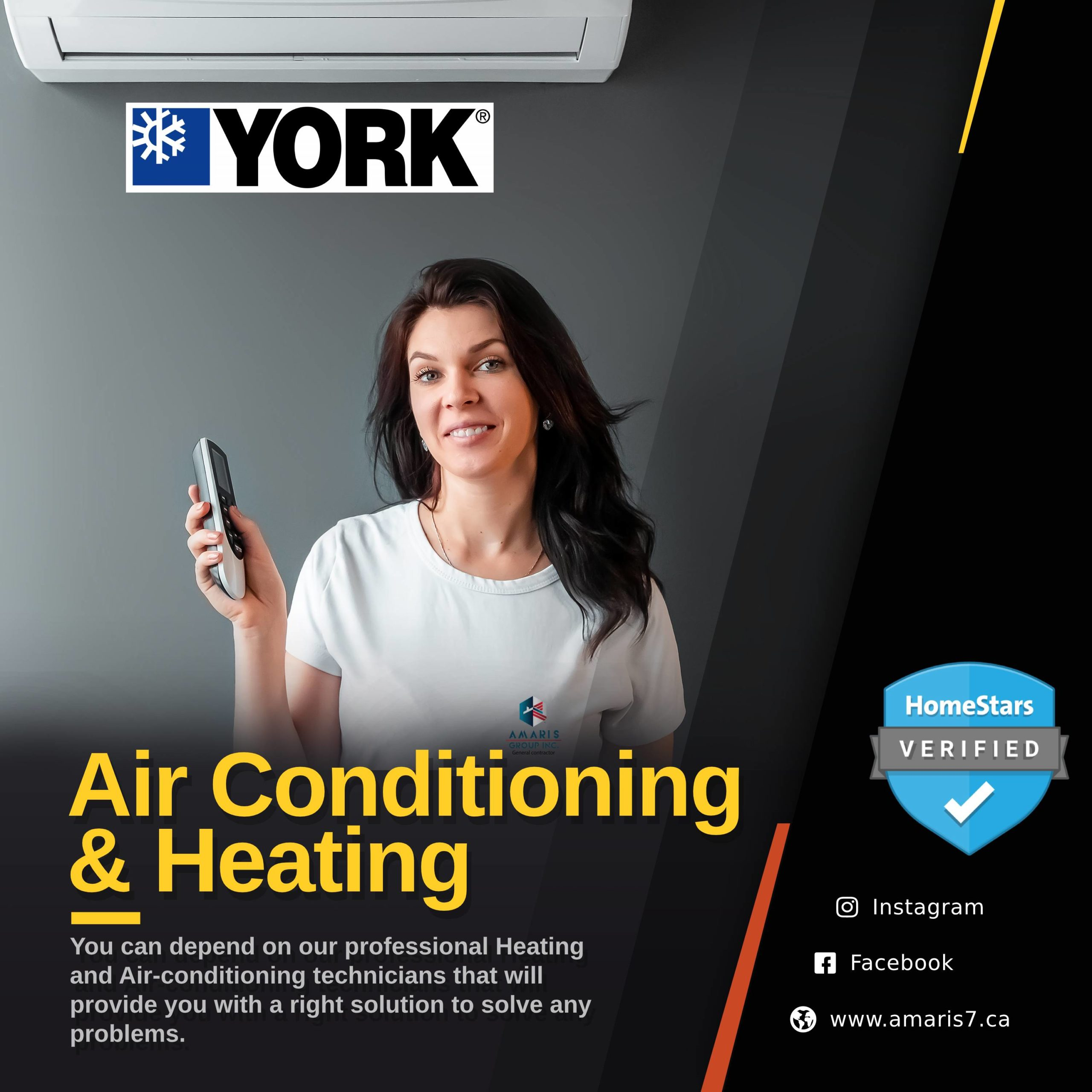 HVAC Amaris Group heating and air conditioning services in vaughan