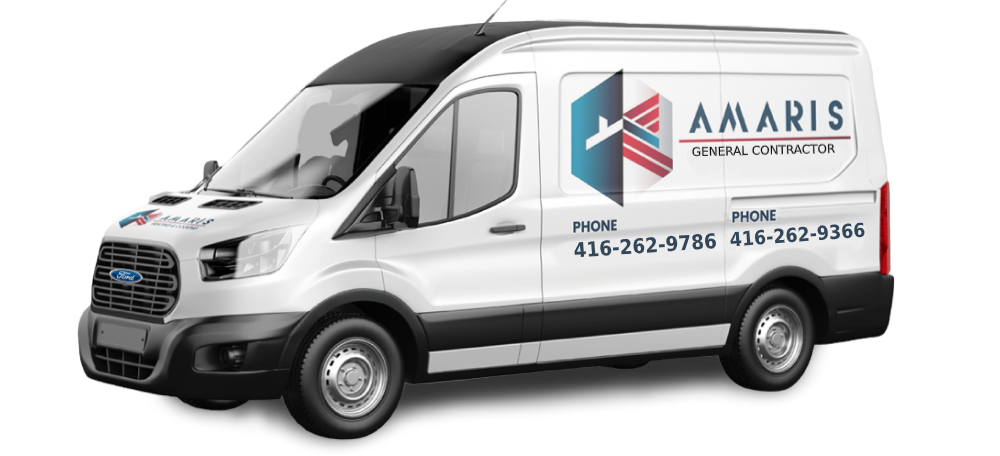 new amaris group van with number for general contractor services in vaughan
