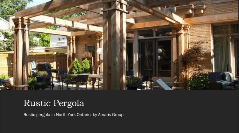 pergolas by amaris group in north york