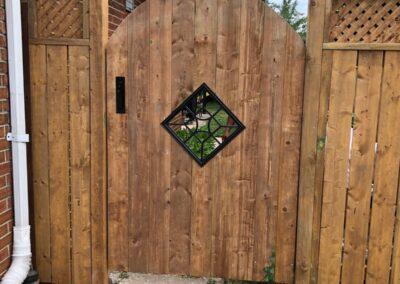 Backyard gate installation Toronto