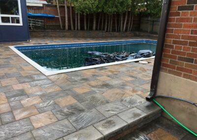 Pool, Interlocking Stone & Landscaping